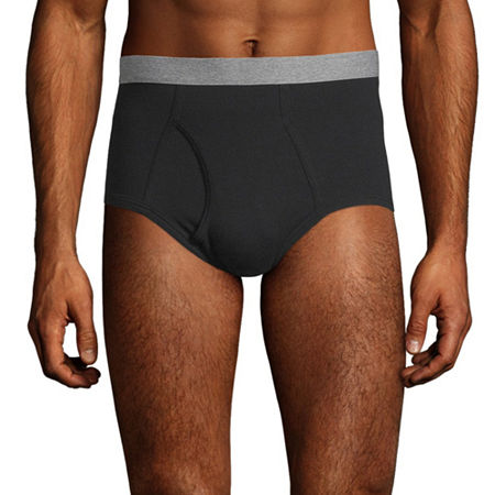 Stafford 6 Pair Dry+Cool Blended Full Cut Briefs - Mens, Small , Black