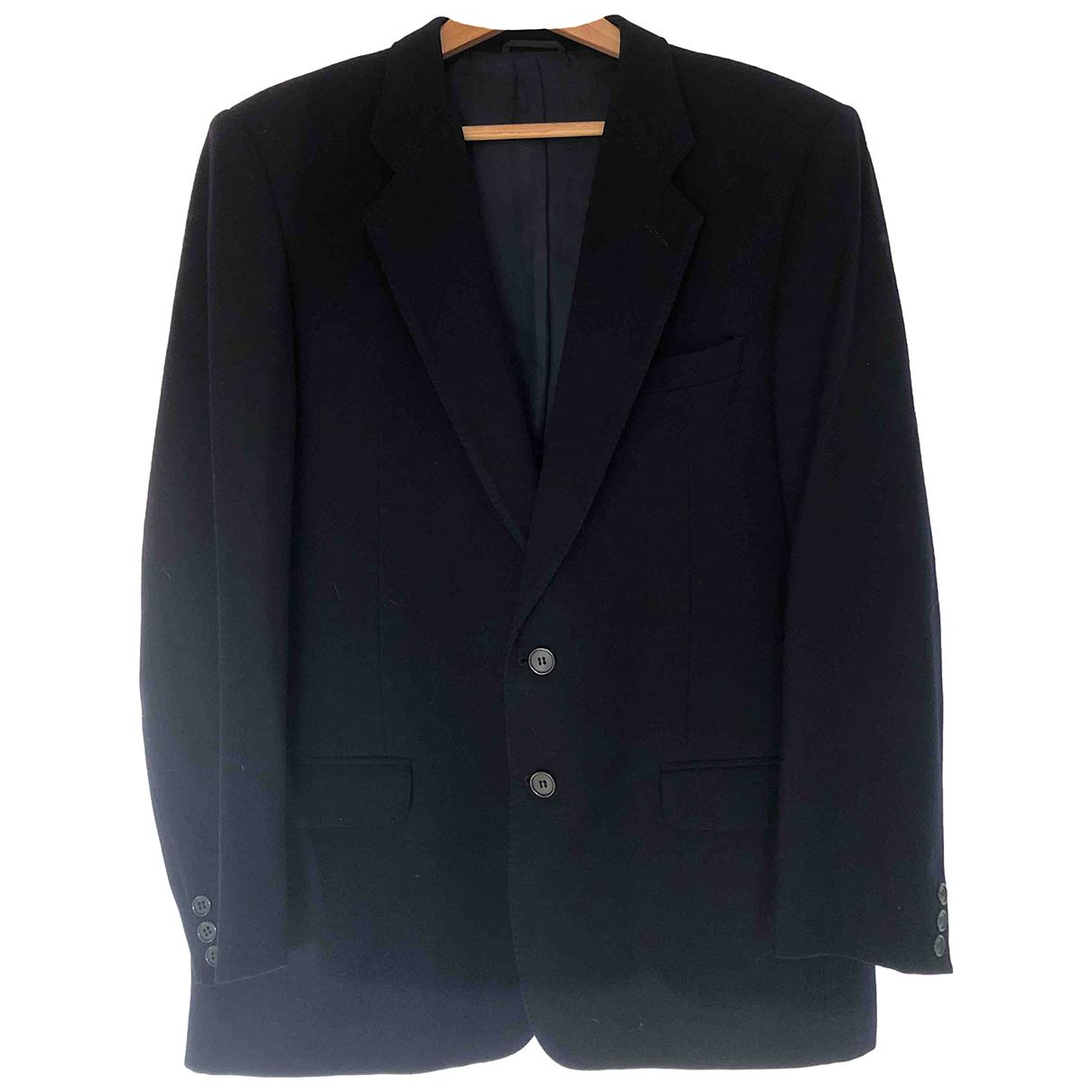 Non Signé / Unsigned Epaulettes Blue Wool jacket  for Men L International