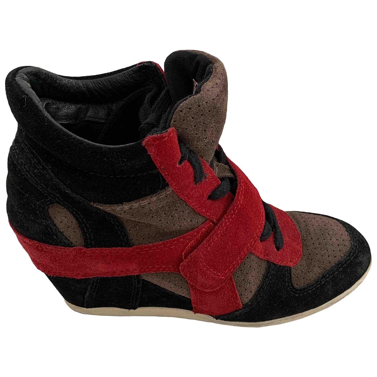 Ash - Baskets   pour femme en suede - noir