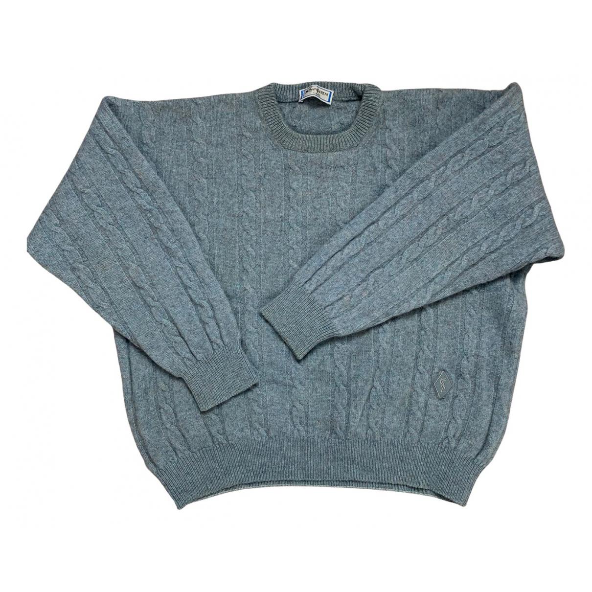 Yves Saint Laurent \N Pullover.Westen.Sweatshirts  in  Blau Baumwolle