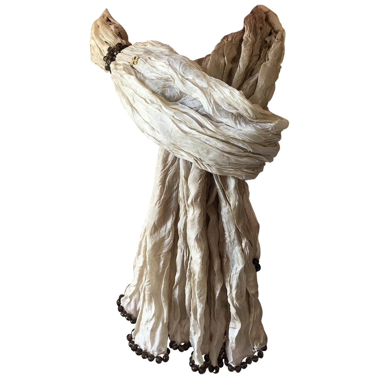 - Collier   pour femme en soie - beige