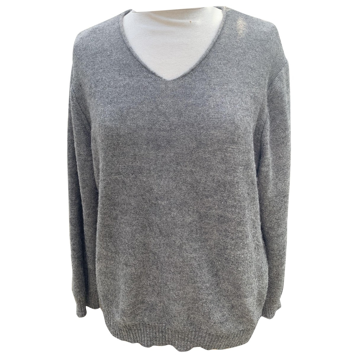 Non Signe / Unsigned \N Pullover in  Grau Wolle