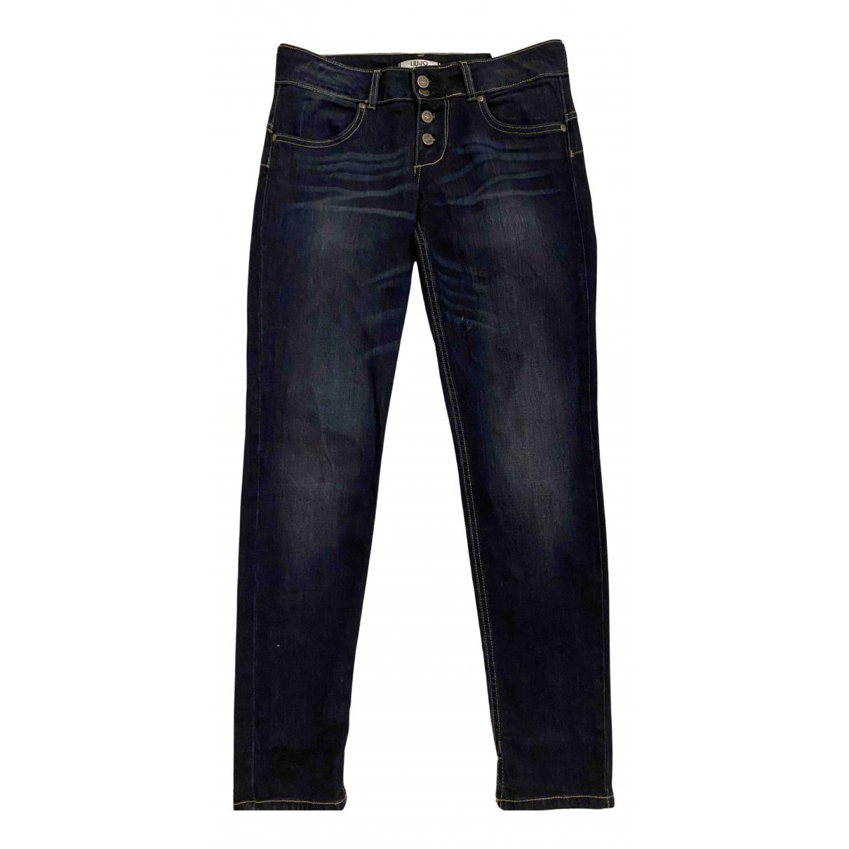 Liu.jo N Blue Cotton - elasthane Jeans for Women 28 US