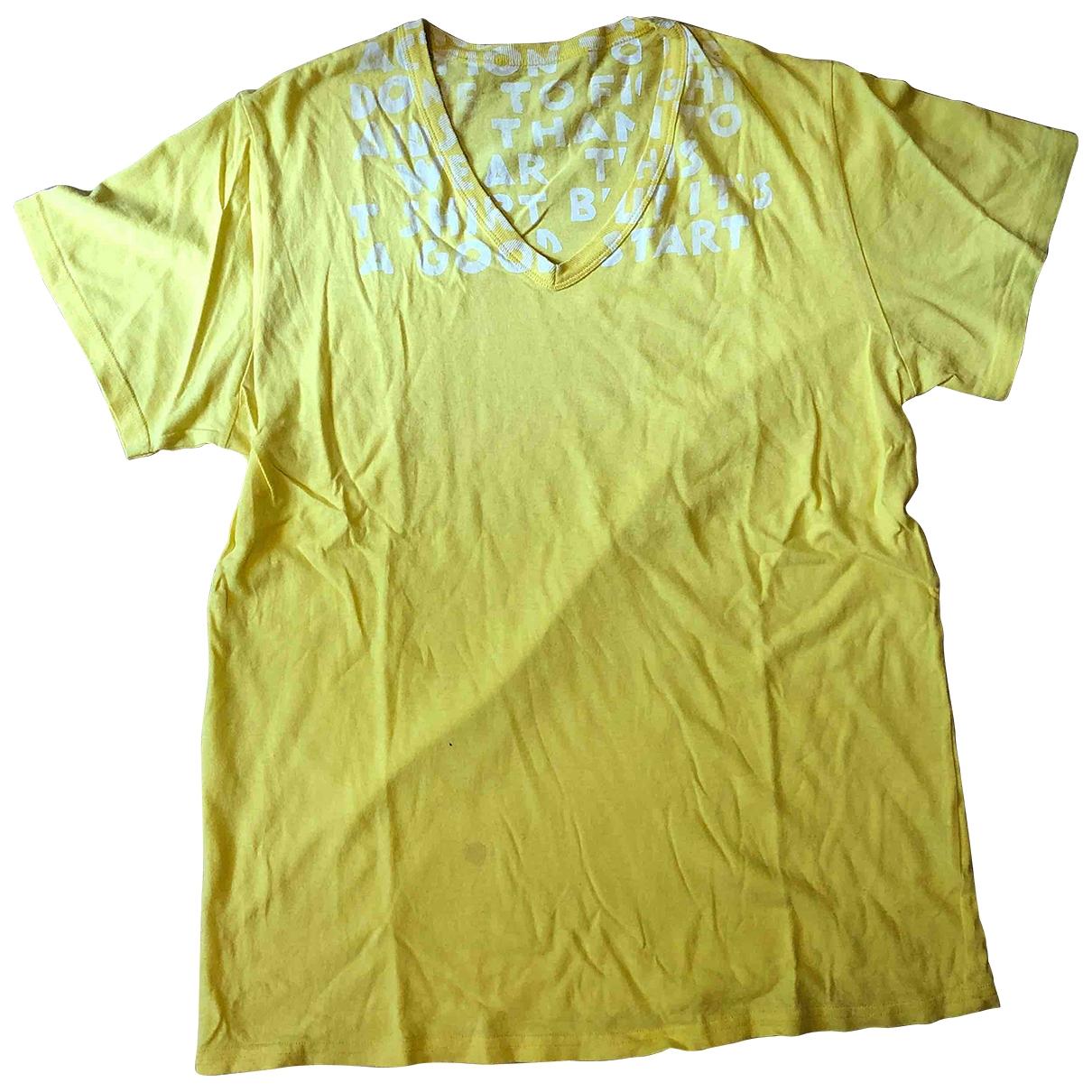Maison Martin Margiela - Tee shirts   pour homme en coton - jaune