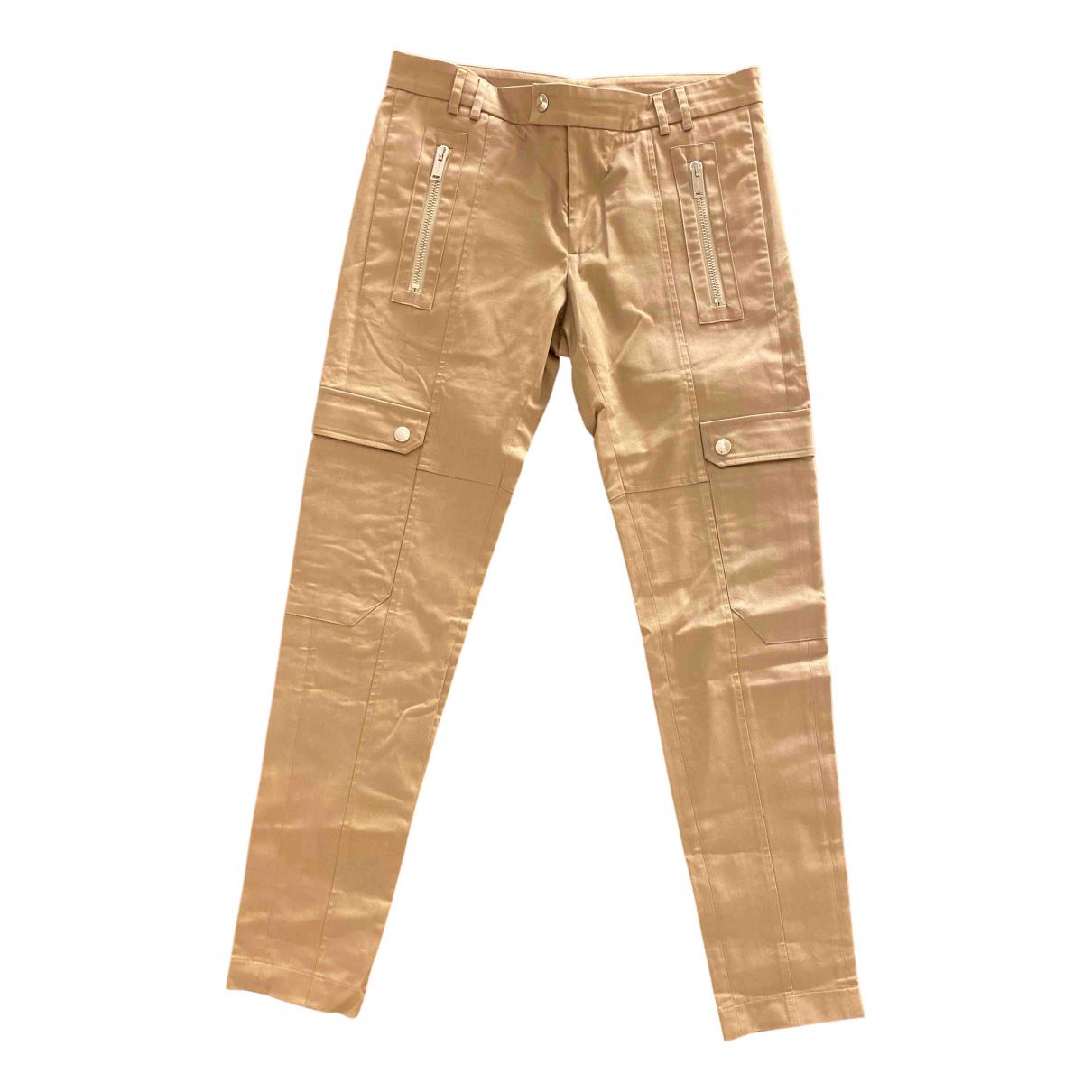 Les Hommes N Beige Cotton Trousers for Men 50 IT