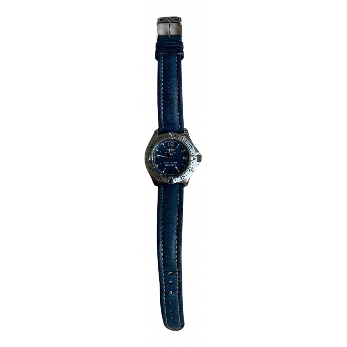 Breitling - Montre Colt  pour homme en acier - bleu