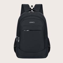 Men Solid Zip Front Backpacks