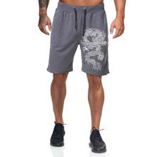 Shorts con estampado de dragon chino