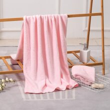 2pcs Solid Color Bath Towel Set