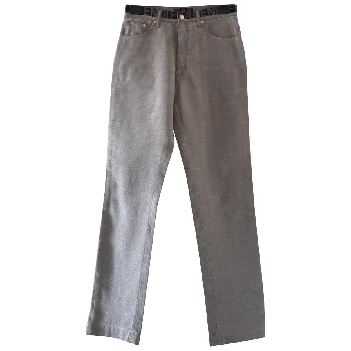 Fendi \N Beige Denim - Jeans Jeans for Women 32 FR