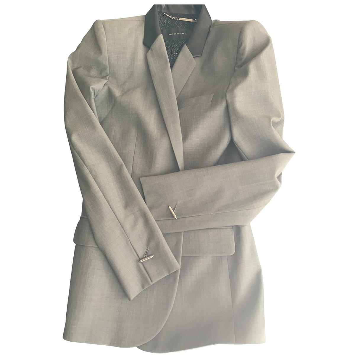 Barbara Bui \N Grey Cotton jacket for Women 38 FR