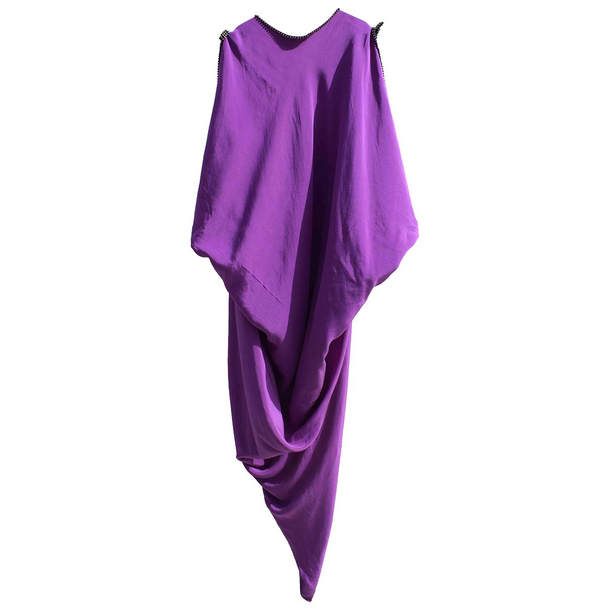 Pierre Cardin - Robe   pour femme en soie - violet