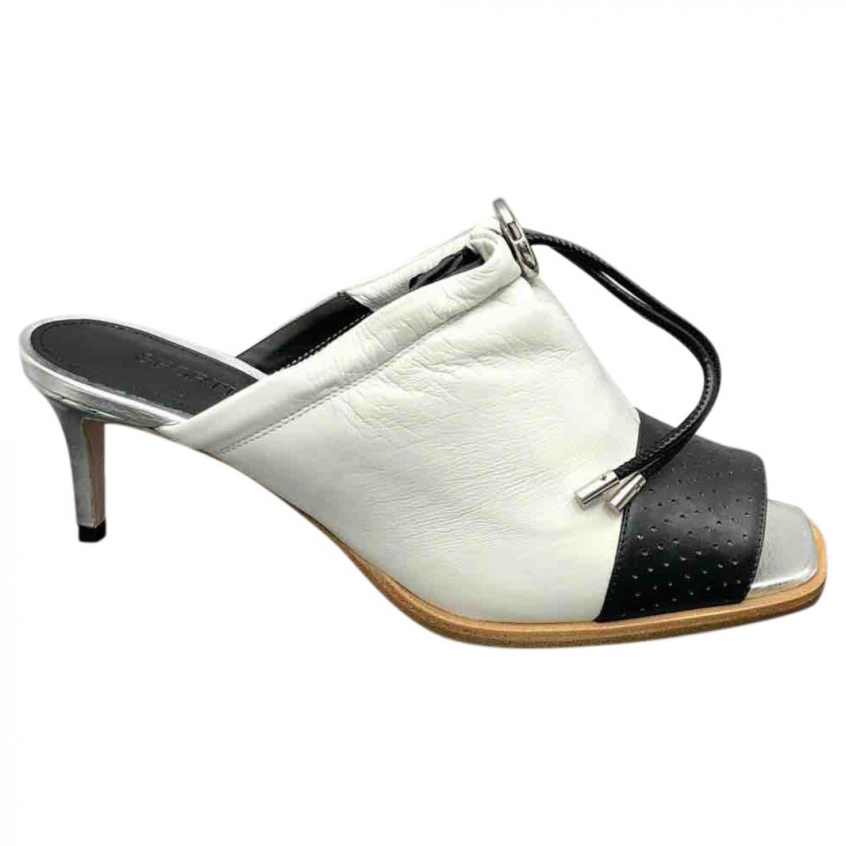 Sport Max - Sandales   pour femme en cuir - gris