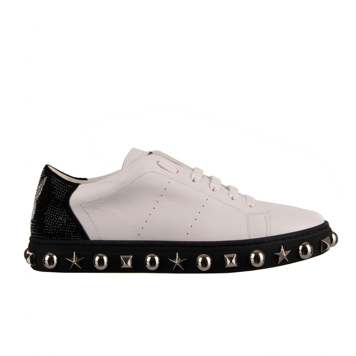Philipp Plein \N Sneakers in  Weiss Leder