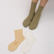 3 Paare Einfache Socken