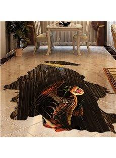 Amazing Fierce Dinosaur Floor Decoration Removable 3D Wall Sticker