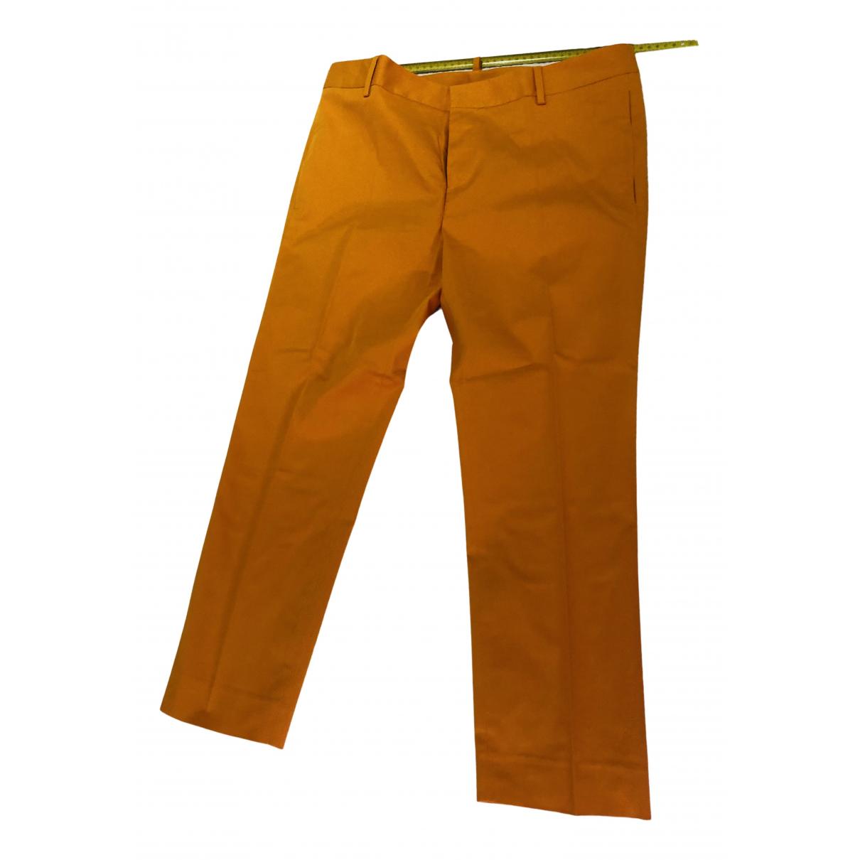 Dsquared2 N Orange Cotton Trousers for Women 44 IT