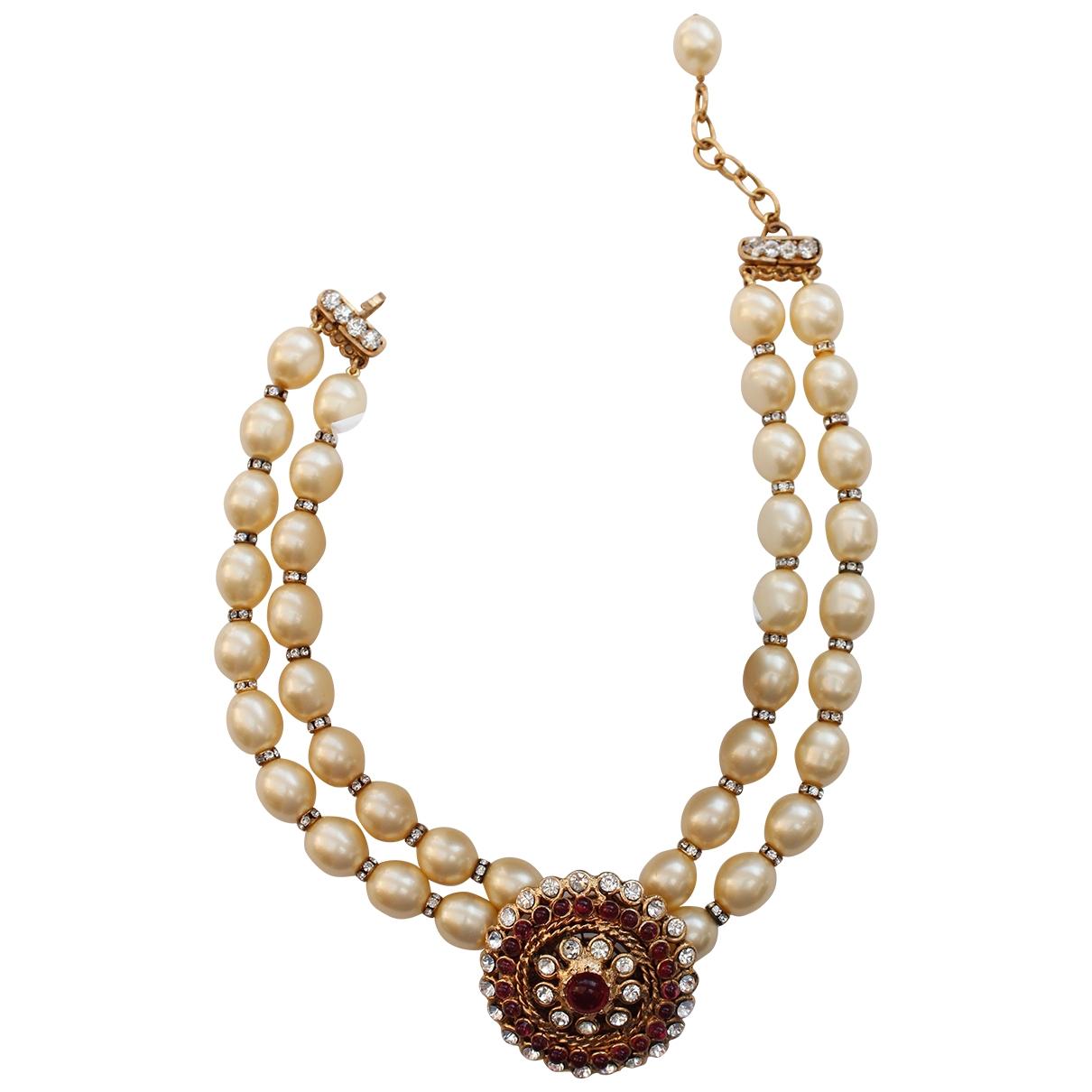Chanel - Collier Camelia pour femme en perles