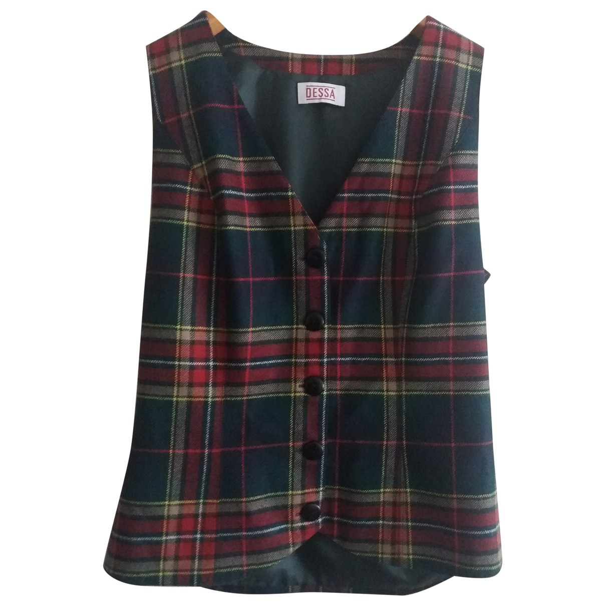 Non Signé / Unsigned \N Multicolour Wool  top for Women 40 FR