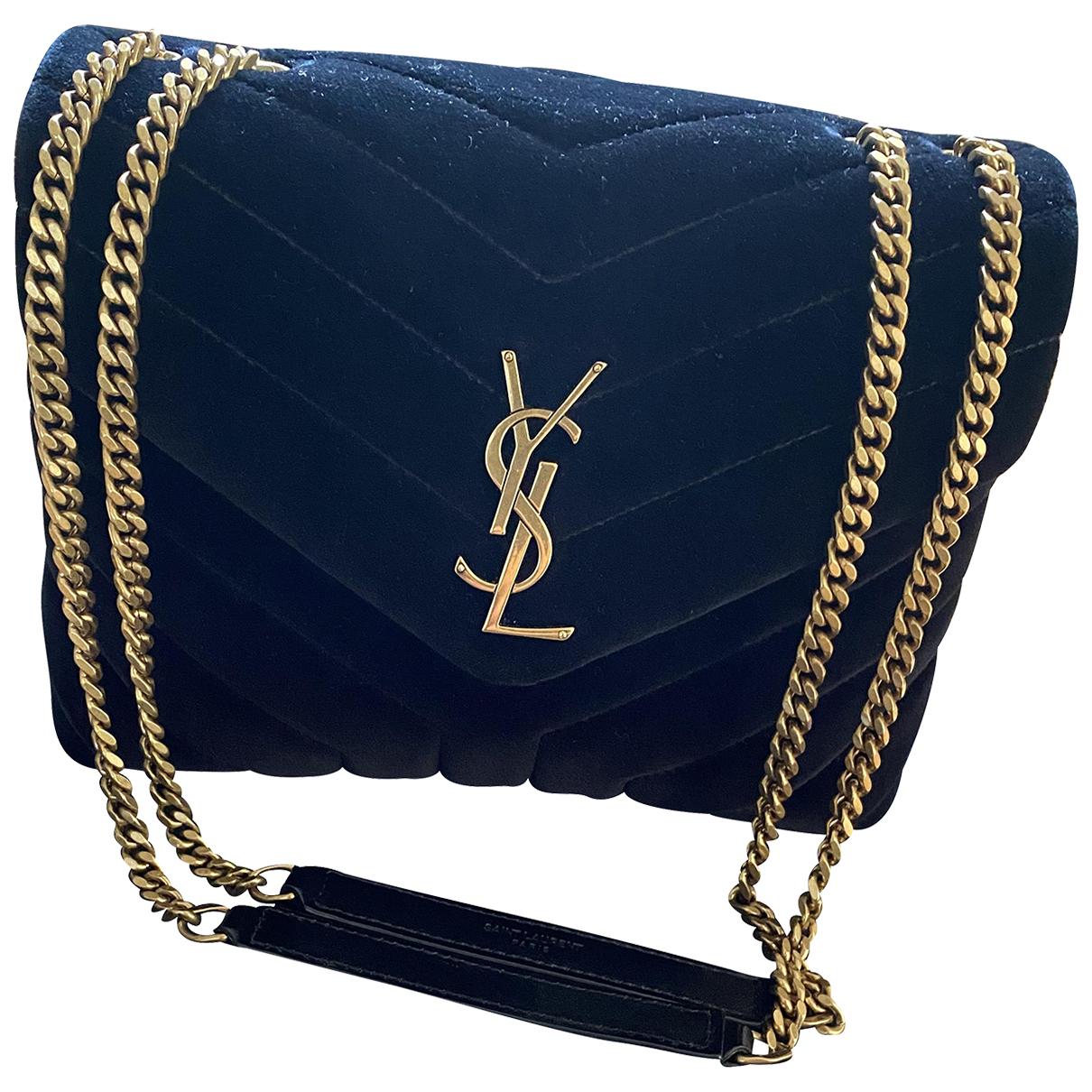 Saint Laurent Loulou Handtasche in  Schwarz Samt