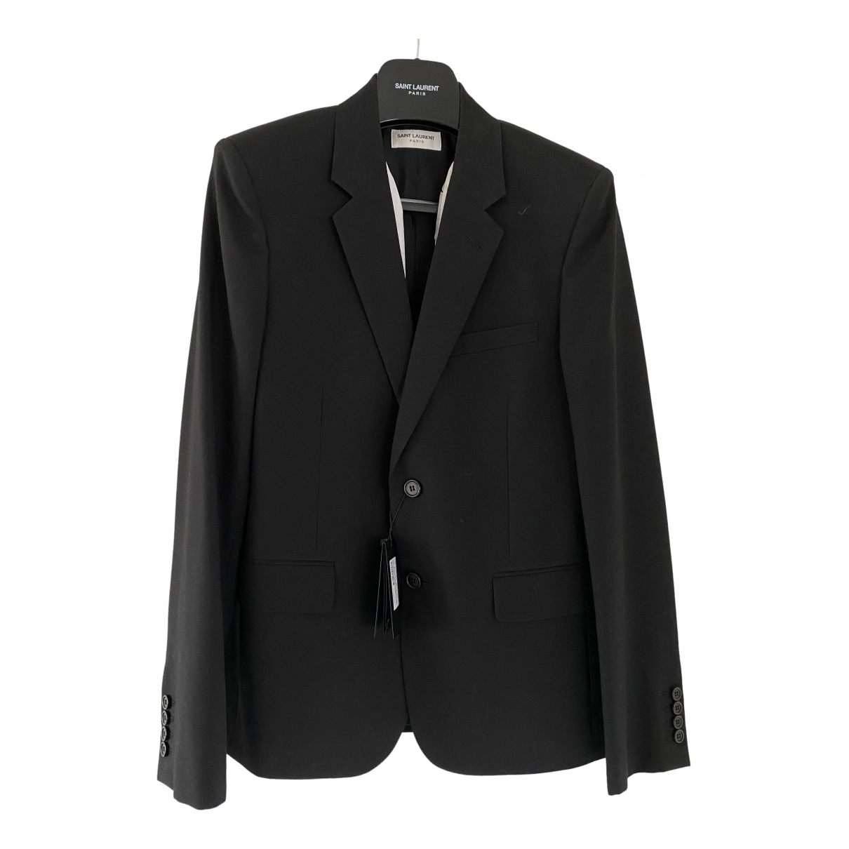 Saint Laurent \N Black Wool jacket  for Men 48 FR