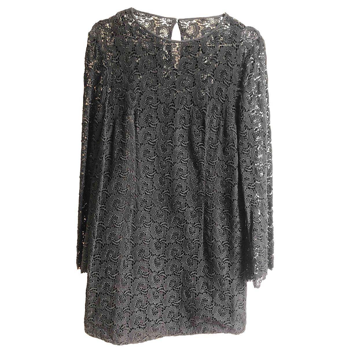 Non Signé / Unsigned Hippie Chic Black Cotton dress for Women 38 FR
