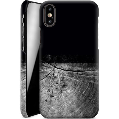 Apple iPhone X Smartphone Huelle - Wood Grain Slice von caseable Designs