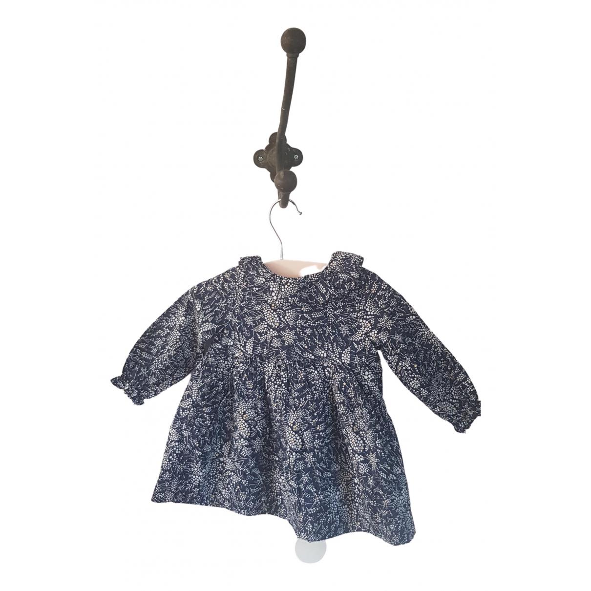 Jacadi \N Kleid in  Marine Baumwolle