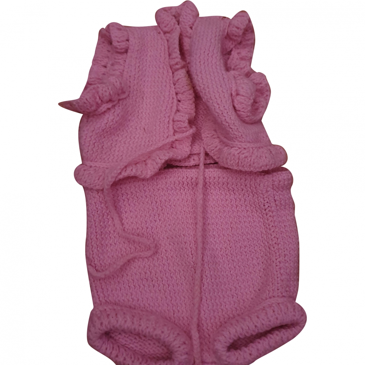 Non Signé / Unsigned \N Pink Wool Outfits for Kids 3 months - up to 60cm FR