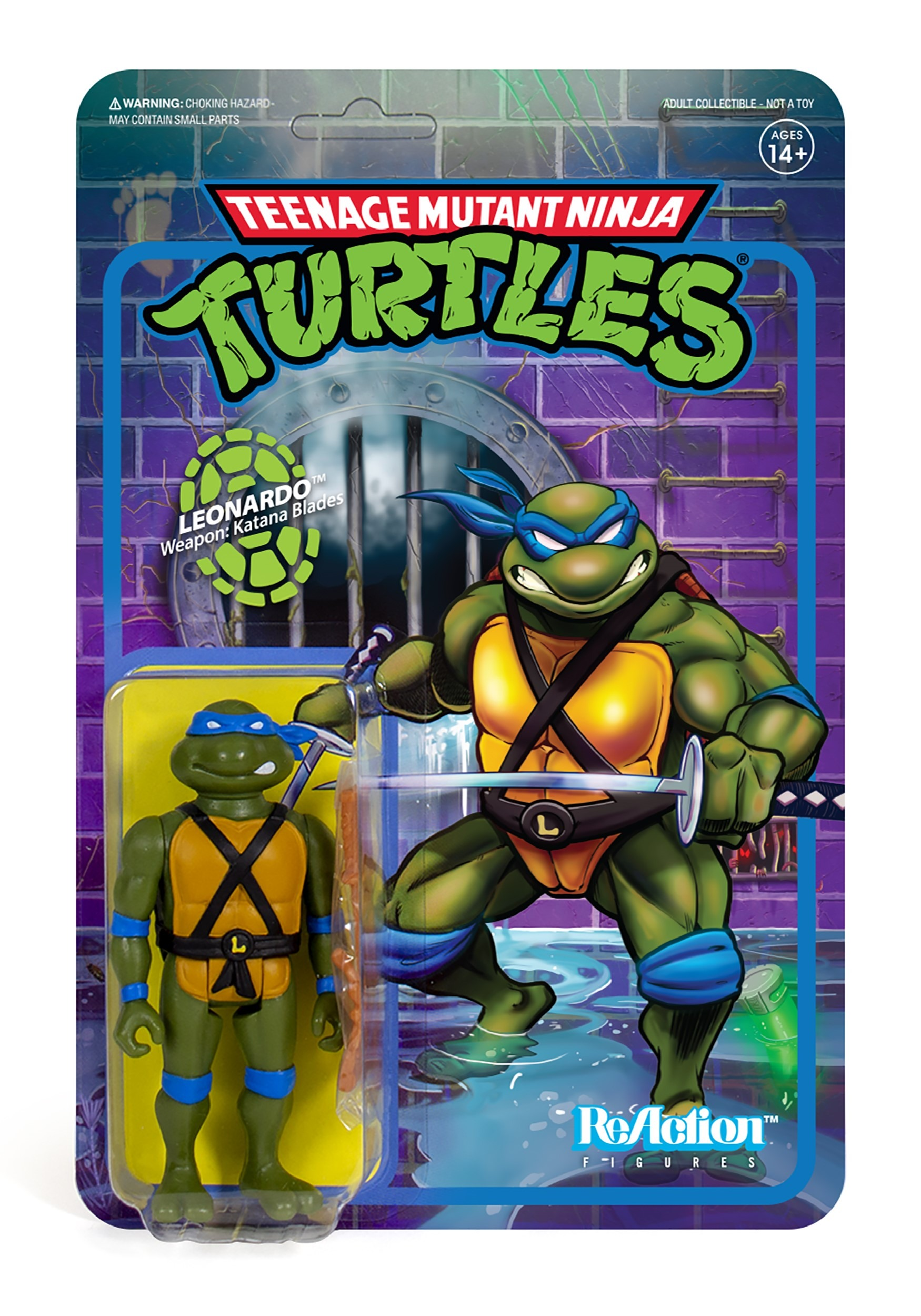 Reaction Leonardo TMNT Action Figure