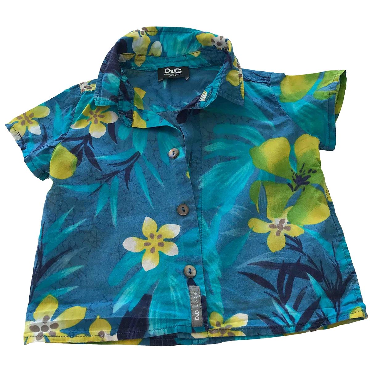 D&g - Top   pour enfant en coton - bleu