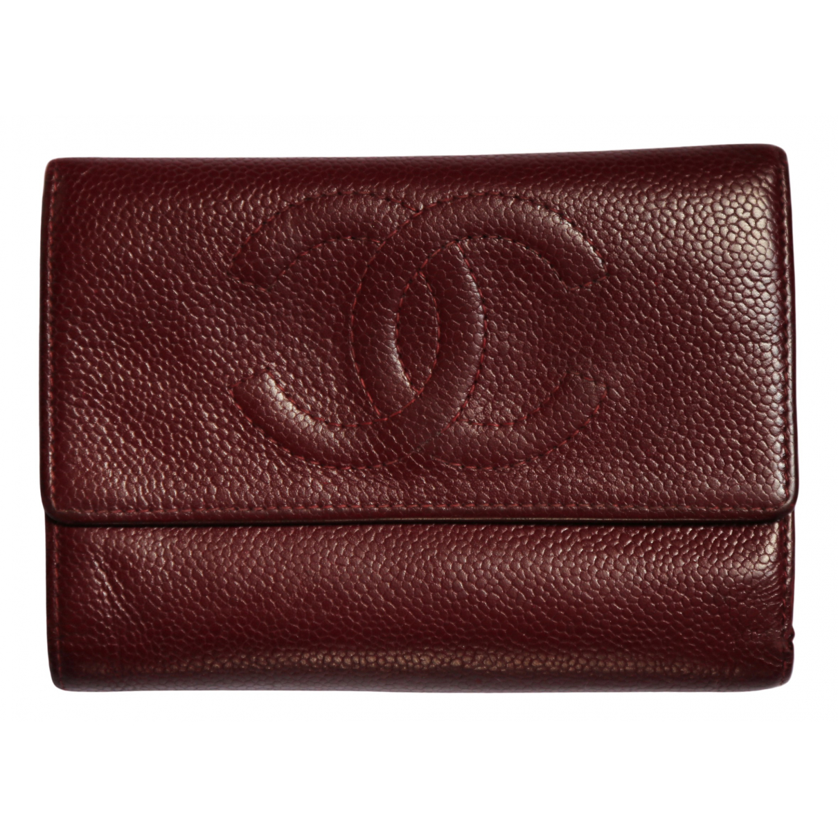 Chanel N Burgundy Leather wallet for Women N