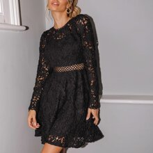 Vestidos Cut-out Liso Glamour