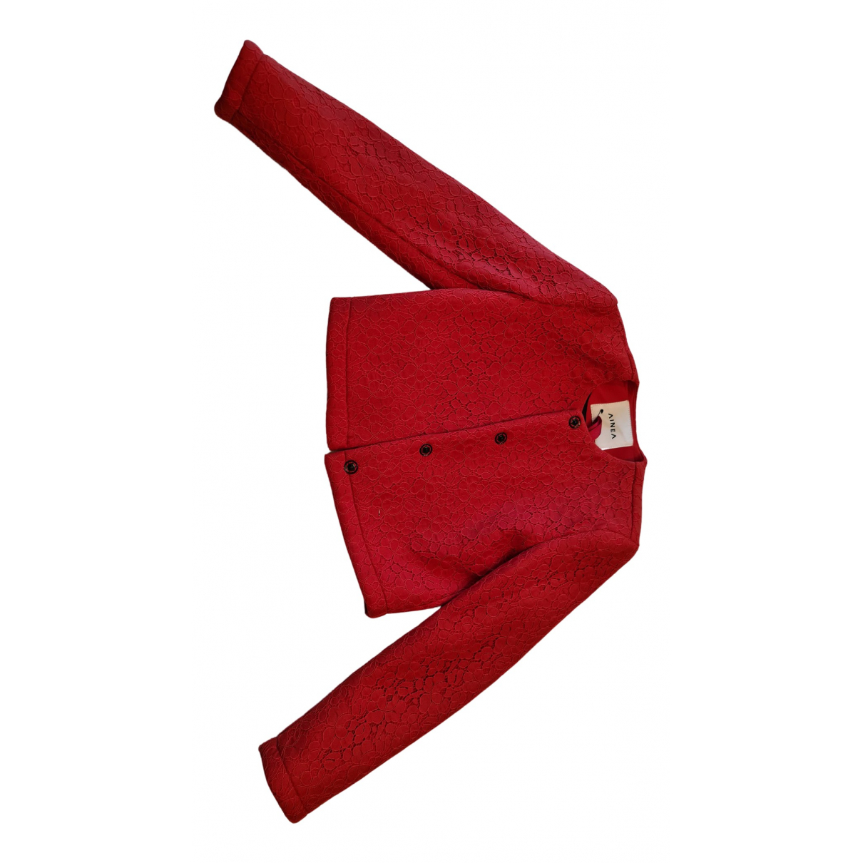 Ainea \N Red Cotton jacket for Women 40 IT