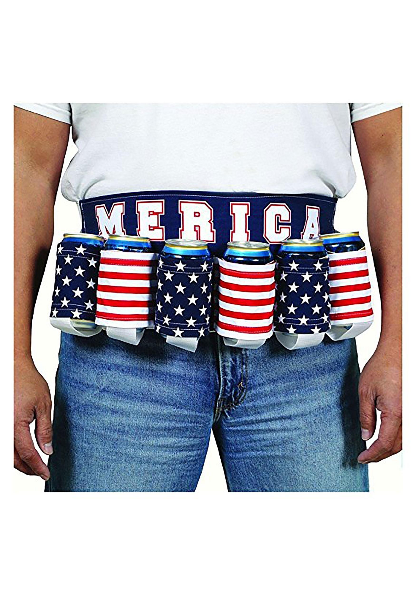 Patriotic Merica Beer Belt