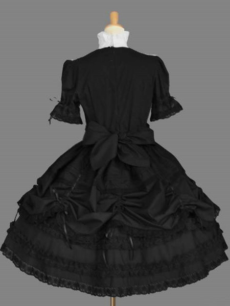 Milanoo Western Style Long Sleeves Pure Cotton Lolita One-Piece