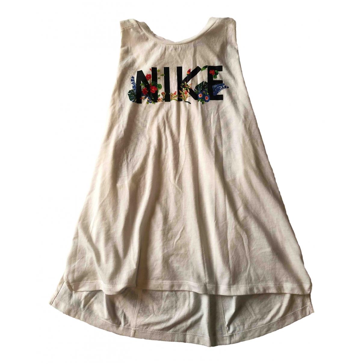 Nike - Top   pour femme en coton - blanc