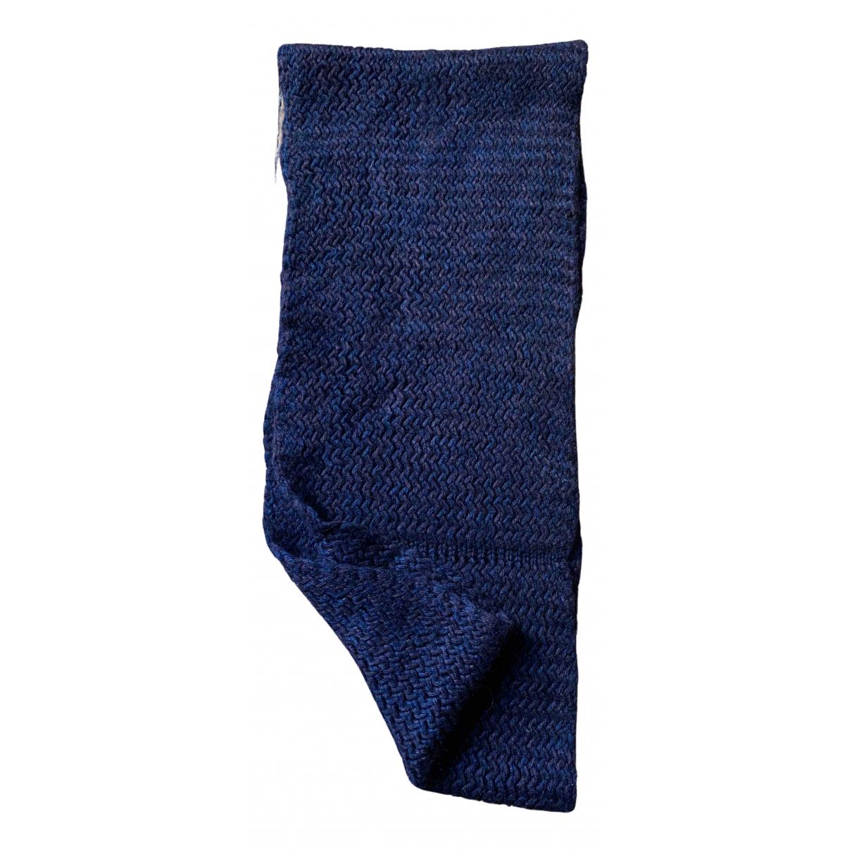 Hermès N Blue Wool scarf & pocket squares for Men N