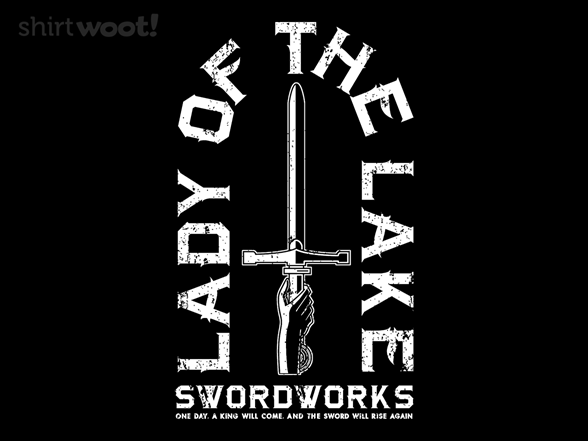 Lady Of The Lake Swordworks T Shirt