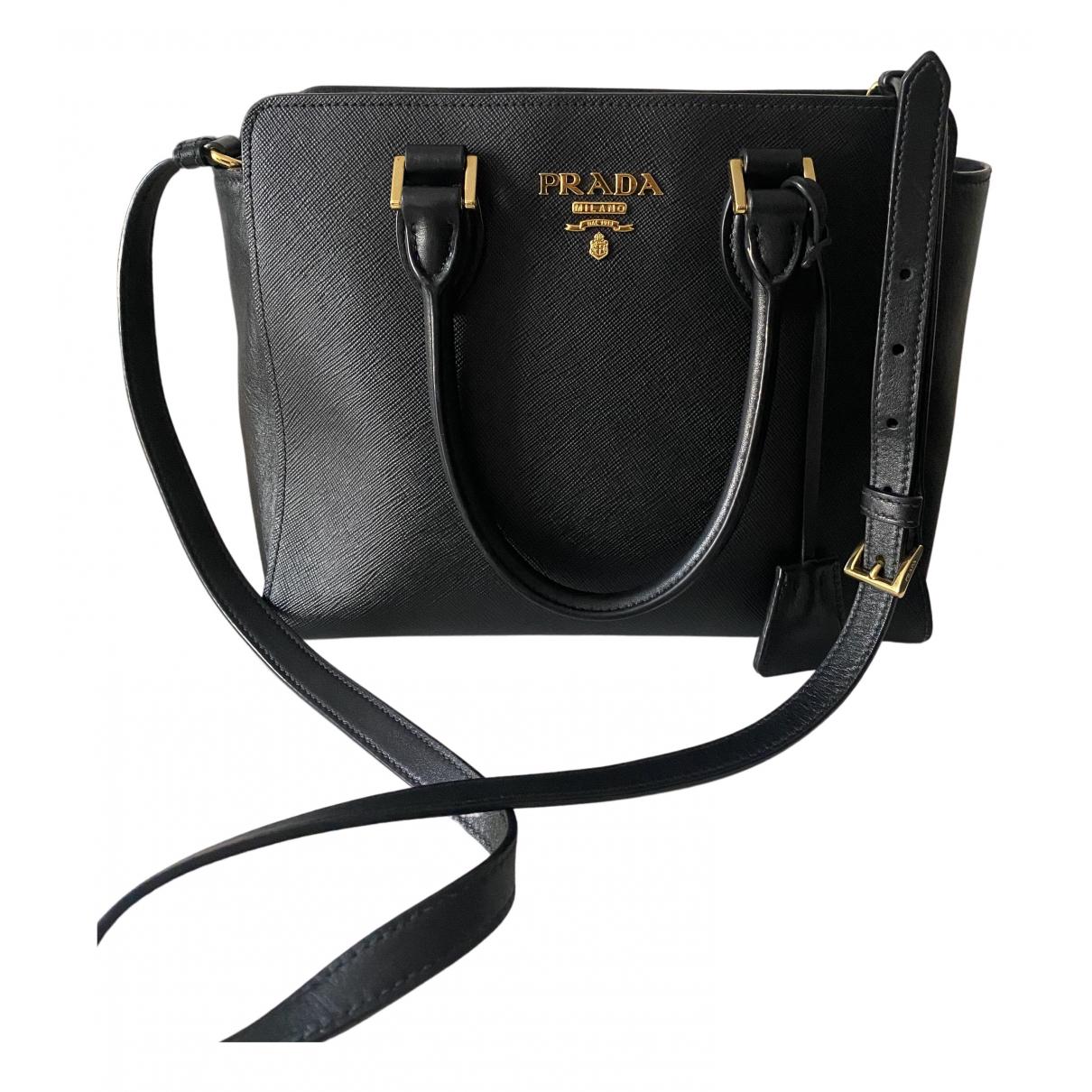 Prada - Sac a main Galleria pour femme en cuir - noir