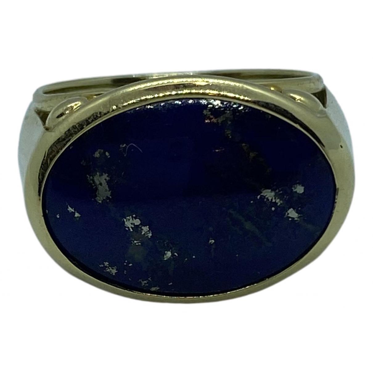 - Bague Lapis lazuli pour femme en or jaune - bleu