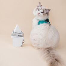 1 Stueck Katze Geschirr mit Karikatur Grafik & 1 Stueck Leine