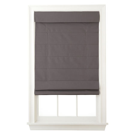 Home Exressions Dover Cordless Roman Shade - FREE SWATCH, One Size , Gray