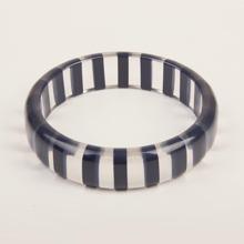 Striped Acrylic Bangle