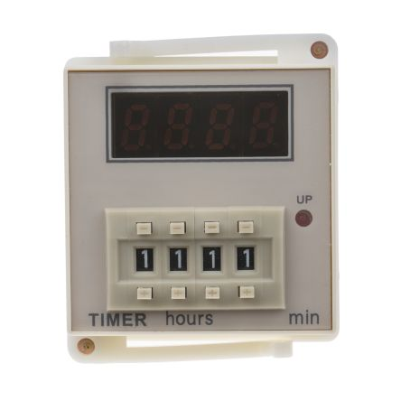 RS PRO SPDT Time Delay Relay - 99 h 59 min, 1 Contacts, Power On Delay, Plug In