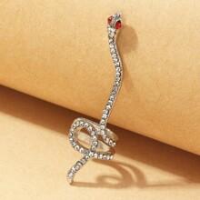 Rhinestone Snake Design Ear Climber
