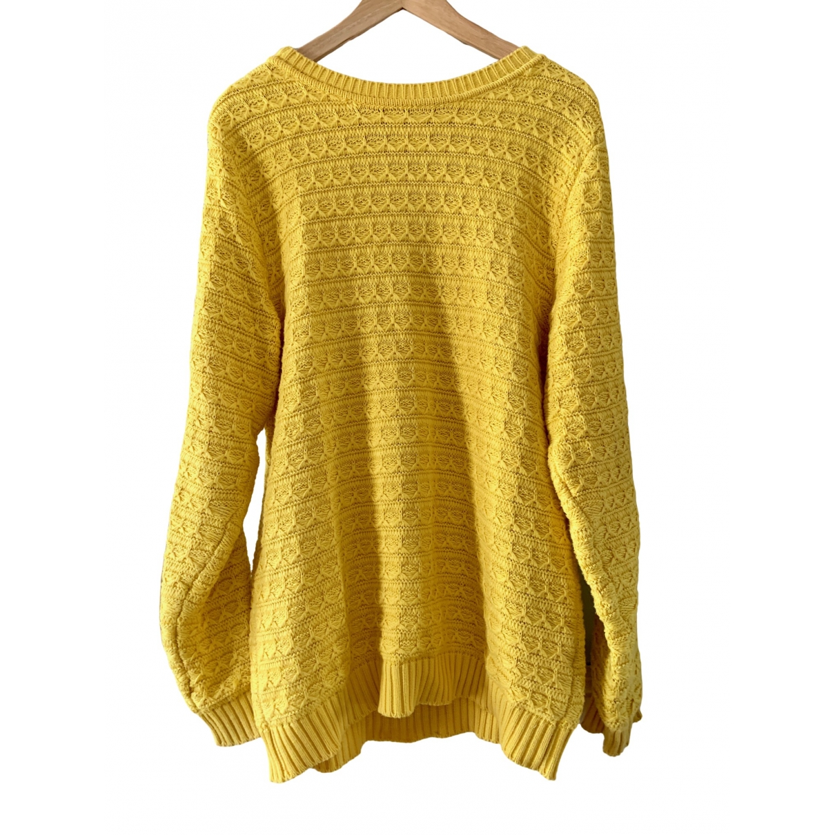 Pierre Balmain \N Yellow Cotton Knitwear & Sweatshirts for Men 48 IT