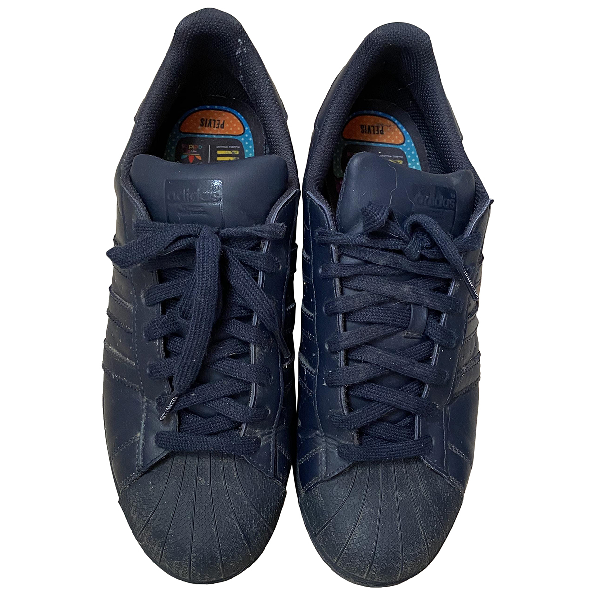 Adidas X Pharrell Williams N Navy Leather Trainers for Men 46 EU