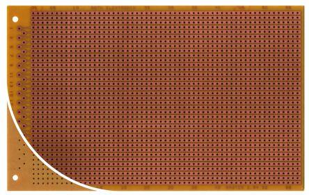 Roth Elektronik RE522-HP, Single Sided DIN 41617 Eurocard PCB FR2 With 37 x 57 1mm Holes, 2.54 x 2.54mm Pitch, 160 x 100 x 1.5mm