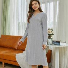 Vestidos Homewear Liso Casual
